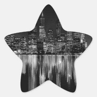 City panorama star sticker