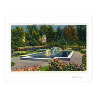 City Park Italian Rose Garden View Postcard