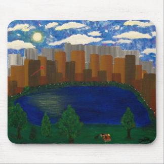 City picnic mouse pad