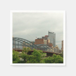 City - Pittsburg PA - The grand city of Pittsburg Paper Napkin
