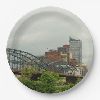 City - Pittsburg PA - The grand city of Pittsburg Paper Plate