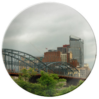 City - Pittsburg PA - The grand city of Pittsburg Porcelain Plate