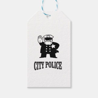 city police man gift tags