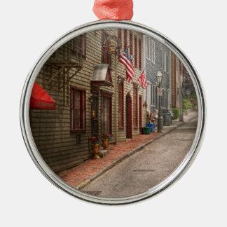 City - Rhode Island - Newport - Journey  Silver-Colored Round Ornament
