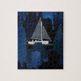 City Sailing at Night Puzzle