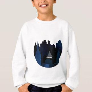 City Sailing at Night Sweatshirt