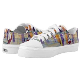"""City Sailing""Original Tquinnartist paintinq Low-Top Sneakers"