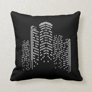 City Scape Throw Pillow
