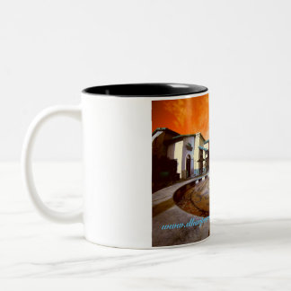 City scape Two-Tone coffee mug