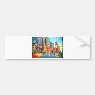 City scape urban landscape bumper sticker