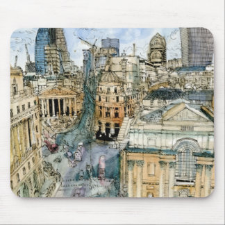City Scene III Mouse Pad