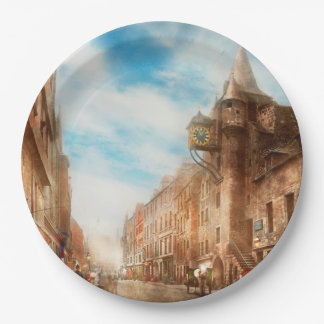 City - Scotland - Tolbooth operator 1865 9 Inch Paper Plate