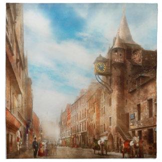 City - Scotland - Tolbooth operator 1865 Cloth Napkin