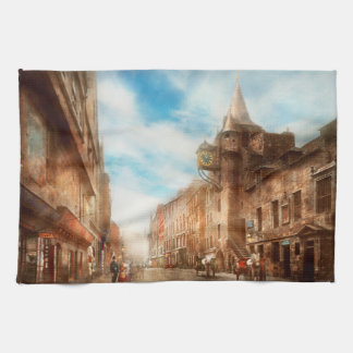 City - Scotland - Tolbooth operator 1865 Kitchen Towel