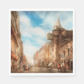 City - Scotland - Tolbooth operator 1865 Paper Napkin