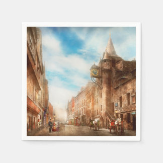 City - Scotland - Tolbooth operator 1865 Paper Napkins