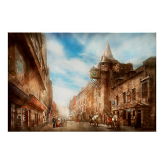 City - Scotland - Tolbooth operator 1865 Perfect Poster