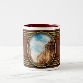 City - Scotland - Tolbooth operator 1865 Two-Tone Coffee Mug