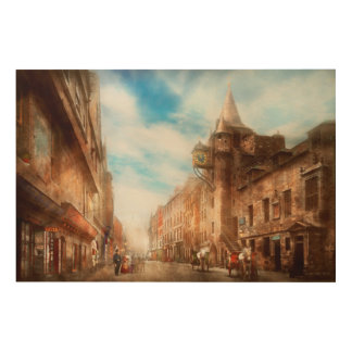 City - Scotland - Tolbooth operator 1865 Wood Canvases