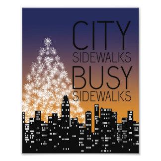 City Sidewalks Busy Sidewalks 8x10 print