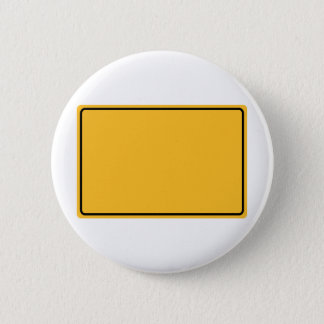 City sign for own text 2 inch round button