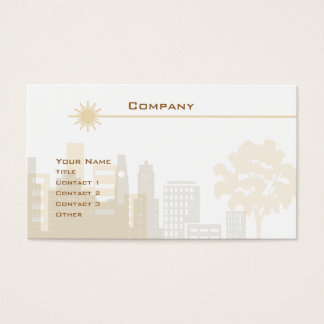 City Skyline Business Card