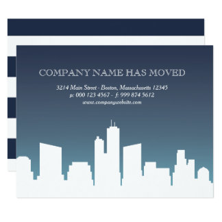 City Skyline | Business We Have Moved Card