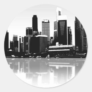 City Skyline Classic Round Sticker