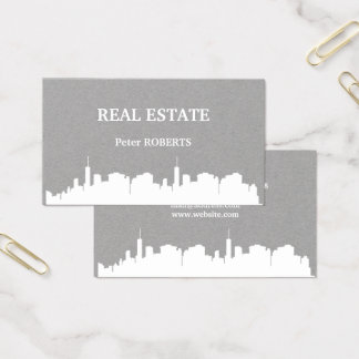 City skyline illustration cover business card