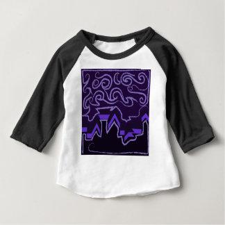 City Skyline in Wavy Night Skies Baby T-Shirt