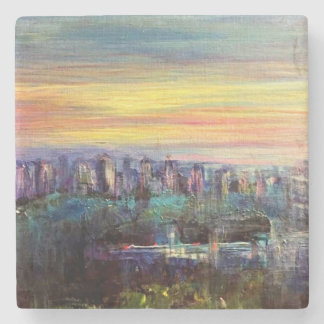 City Skyline marble coaster