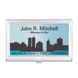 City Skyline Personalize Card Holder Business Card Case