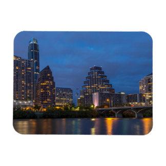 City Skyline Reflects Into Lady Bird Lake Rectangular Photo Magnet