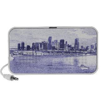City Skyline Waterfront Travel Speakers