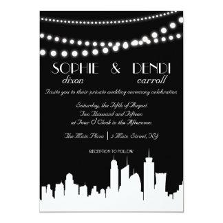 City Skyline Wedding Invitation