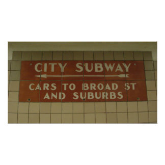 City Subway Poster