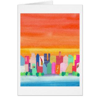 City Sunset Card