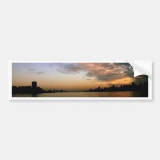 City Sunset Skyline Car Bumper Sticker