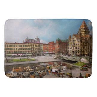 City - Syracuse NY - The Clinton Square Canal 1905 Bath Mat