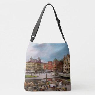 City - Syracuse NY - The Clinton Square Canal 1905 Crossbody Bag