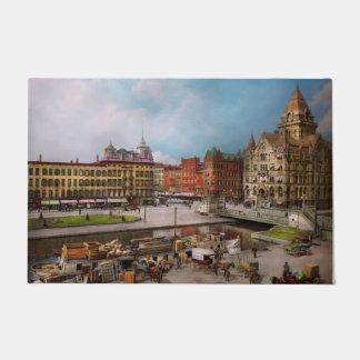 City - Syracuse NY - The Clinton Square Canal 1905 Doormat