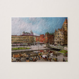 City - Syracuse NY - The Clinton Square Canal 1905 Jigsaw Puzzle