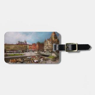 City - Syracuse NY - The Clinton Square Canal 1905 Luggage Tag
