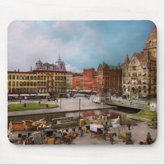 City - Syracuse NY - The Clinton Square Canal 1905 Mouse Pad