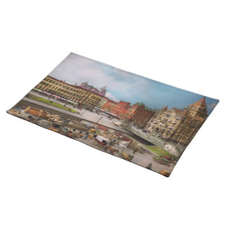 City - Syracuse NY - The Clinton Square Canal 1905 Placemat