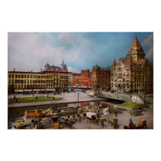 City - Syracuse NY - The Clinton Square Canal 1905 Poster