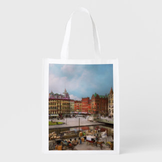 City - Syracuse NY - The Clinton Square Canal 1905 Reusable Grocery Bag