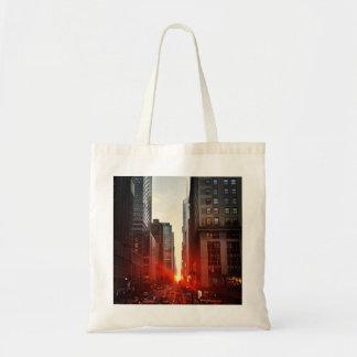 City twilight tote bag