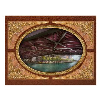 City - Underneath the William P Fahey Bridge Post Card