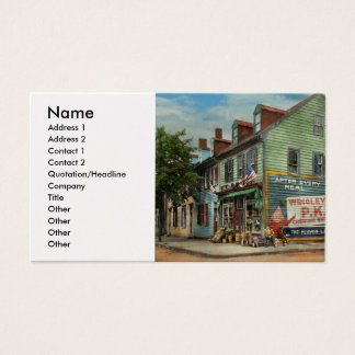 City - VA - C&G Grocery Store 1927 Business Card